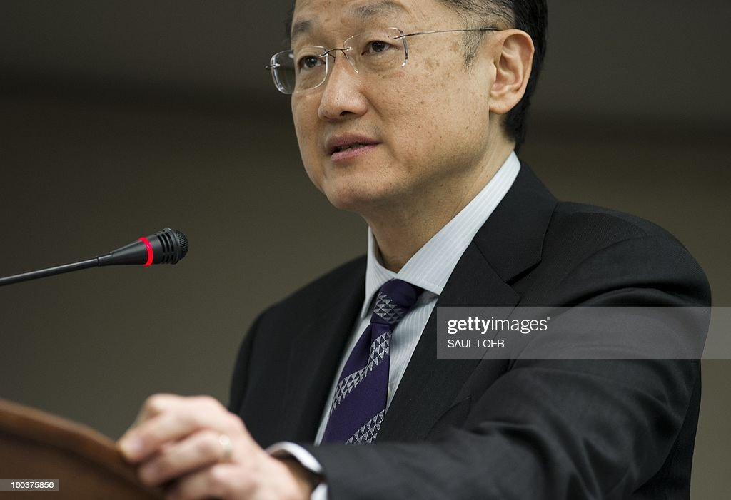 World Bank President Jim Yong Kim speaks during a discussion on anti-corruption efforts in global development at the Center for Strategic and International Studies in Washington, DC, on January 30, 2013. AFP PHOTO / Saul LOEB