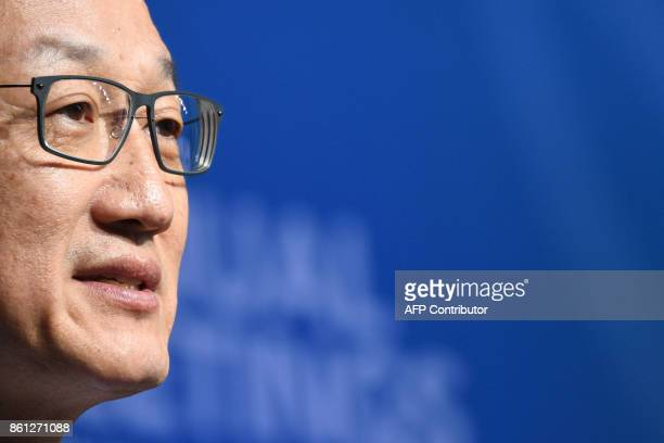 World Bank President Jim Yong Kim speaks during a session named 'Taking womenowned businesses to the next level' at the World Bank and International...