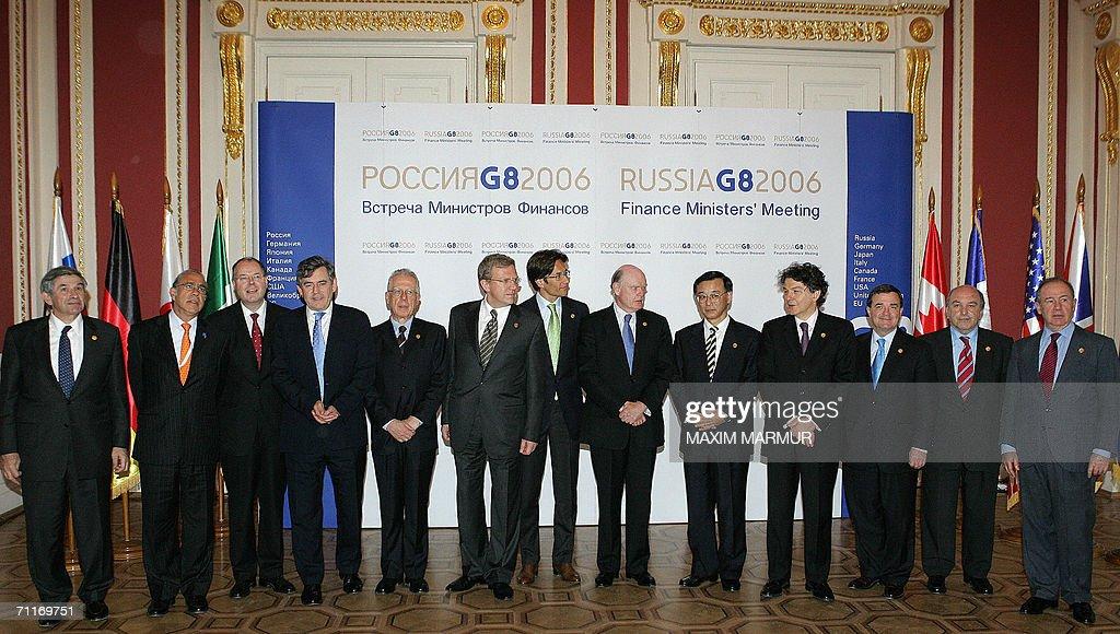 World Bank President Paul Wolfowitz Angel Gurria SecretaryGeneral of the OECD German Finance Minister Peer Steibruck Gordon Brown the Chancellor of...
