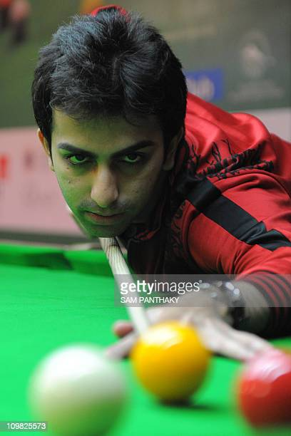 World Billiards Champion and Asian Games gold medalist Pankaj Advani plays on the final day of Whistling Properties Asian Qualifying National Camp...