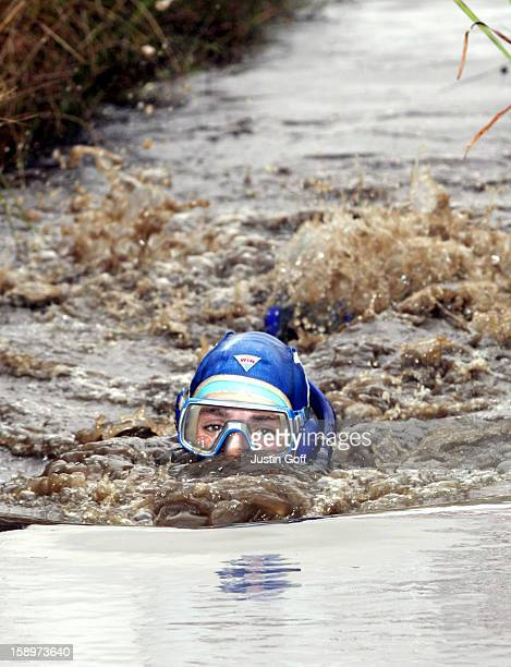 World Bog Snorkelling Championships In The Waen Rhydd Peat Bog In Llanwrtyd Wells Wales Competitors Have To Complete TwoLengths Of A 60Yard Trench In...