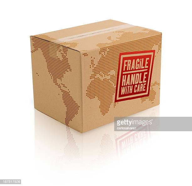 World Cardboard Box w/Clipping Path