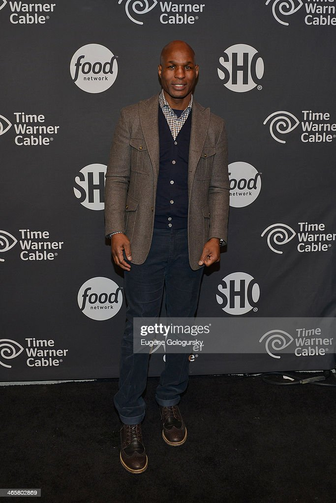 World Champion Boxer <a gi-track='captionPersonalityLinkClicked' href=/galleries/search?phrase=Bernard+Hopkins&family=editorial&specificpeople=171200 ng-click='$event.stopPropagation()'>Bernard Hopkins</a> attends Time Warner Cable Studios Presents SHOWTIME And Food Network's Ultimate Tailgate Experience at Highline Stages on January 29, 2014 in New York City.