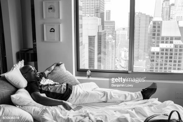 World champion boxer Floyd Mayweather Jr travels in New York at the beginning of the Mayweather and Canelo fight card promotion road trip