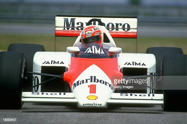 World Champion driver Niki Lauda of Austria in action in his Marlboro McLaren Mandatory Credit Allsport UK /Allsport