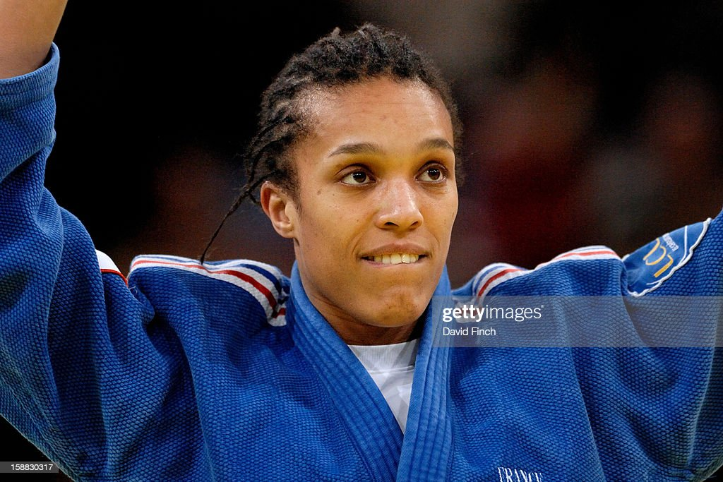 World champion, Lucie Decosse of France (blue), defeated World champion, Yoshie Ueno of Japan, by ippon for the u63kgs gold medal during the Paris Tournament on day 1, Saturday, February 09, 2008 at the Palais Omnisports de Paris Bercy Sports Arena, Bercy, Paris, France.