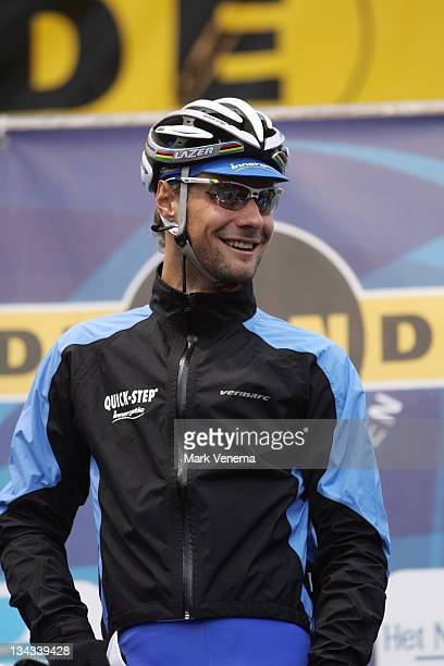World Champion Tom Boonen of Cycling Team Quick Step Innergetic at the start of the 90th edition of the Tour of Flanders in Belgium April 2 2006