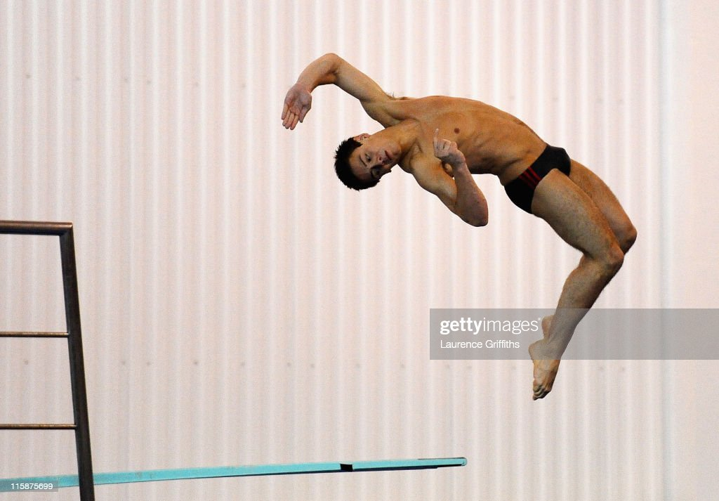World Champion Tom Daley dives during the Mens 3m Preliminary at the John Charles Aquatics Centre on June 11, 2011 in Leeds, England.