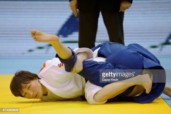 World champion Urantsetseg Munkhbat of Mongolia held Sonja Wirth of Germany with a unique Mongolian hold for ippon to reach the u48kg semifinal...