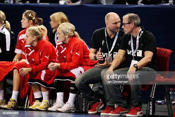 World Championships Womens Handball Brazil vs Denmark Assistenttræner / Assistantcoach Ulrik Kirkely Danmark / Denmark Landstræner / Teamcoach Jan...