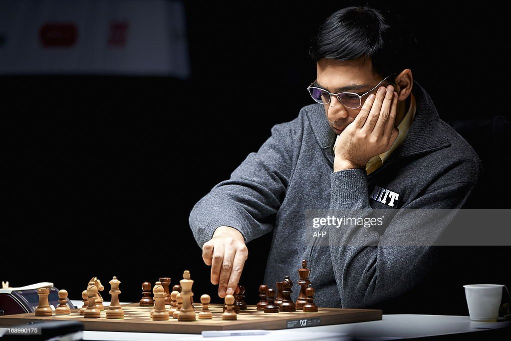World chess champion Indian Viswanathan Anand is pictured during the last round of the tournament Norway Chess on May 18, 2013 in Stavanger. AFP PHOTO / Kent Skibstad /SCANPIX