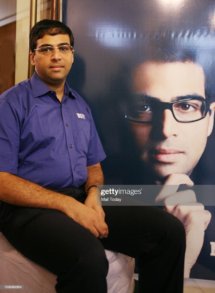 World Chess Champion <a gi-track='captionPersonalityLinkClicked' href=/galleries/search?phrase=Viswanathan+Anand&family=editorial&specificpeople=639502 ng-click='$event.stopPropagation()'>Viswanathan Anand</a> at a panel discussion on 'Developing Mind Champions through Chess' in New Delhi on July 24, 2010.