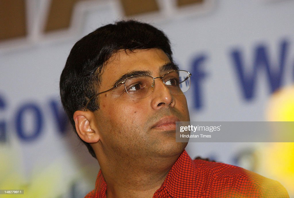 World Chess Champion <a gi-track='captionPersonalityLinkClicked' href=/galleries/search?phrase=Viswanathan+Anand&family=editorial&specificpeople=639502 ng-click='$event.stopPropagation()'>Viswanathan Anand</a> at the felicitation function on July 12 , 2012 in Kolkata, India. West Bengal sports department felicitated <a gi-track='captionPersonalityLinkClicked' href=/galleries/search?phrase=Viswanathan+Anand&family=editorial&specificpeople=639502 ng-click='$event.stopPropagation()'>Viswanathan Anand</a>.