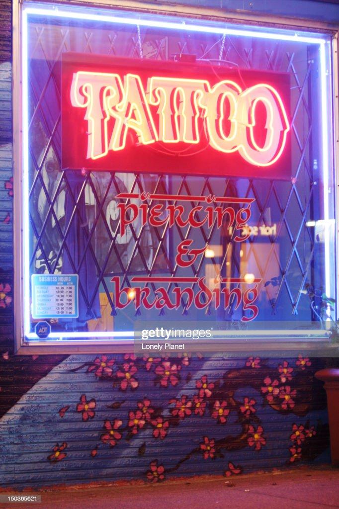 World Class Tattoo, Sth Granville. : Stock Photo