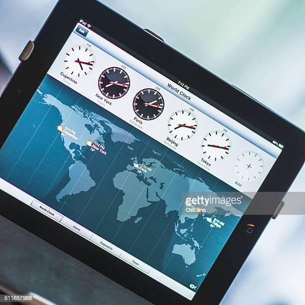 Relógio MundialComment Aplicação da Apple iPad dispositivo
