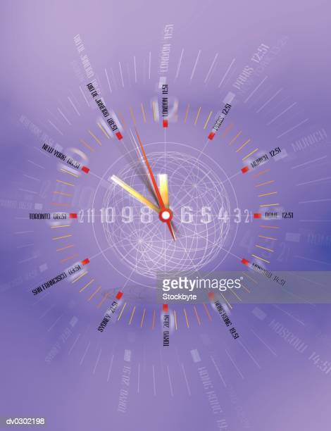 World clock with time zones