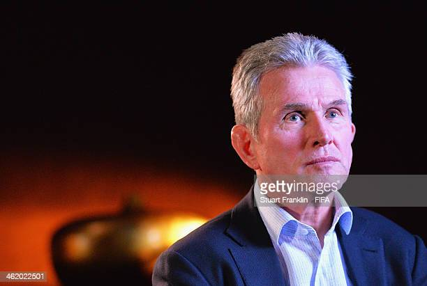 World Coach of the Year for Men's Football nominee and former manager of Bayern Munich Jupp Heynckes of Germany is interviewed prior to the FIFA...