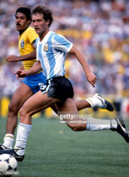World Cup 1982 Brazil v Argentina Gabriel Calderon of Argentina