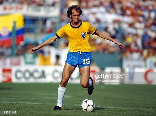 World Cup 1982 Spain Brazil v Italy Falcao on the ball