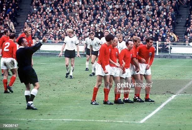 World Cup Final 30th July Wembley Stadium England England 4 v West Germany 2 England players LR Martin Peters Bobby Charlton Nobby Stiles Roger Hunt...