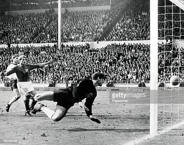 World Cup Final 30th July Wembley Stadium England England 4 v West Germany 2 England's controversial third goal scored by Geoff Hurst in the first...