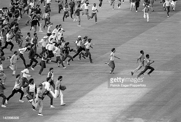 World Cup Final at Lord's 1983 Crowd invasion at the end of the match following India's unexpected victory 633877