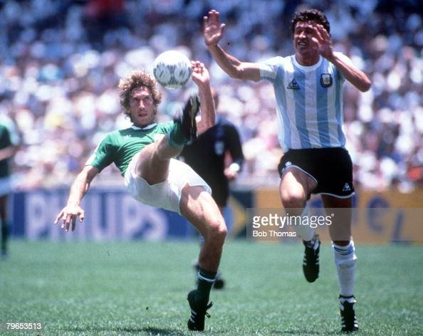 1986 world cup final azteca stadium mexico 29th june for Ditmar jakobs