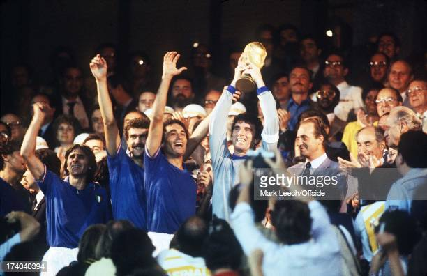 World Cup Final Italy v West Germany Dino Zoff lifts the World Cup