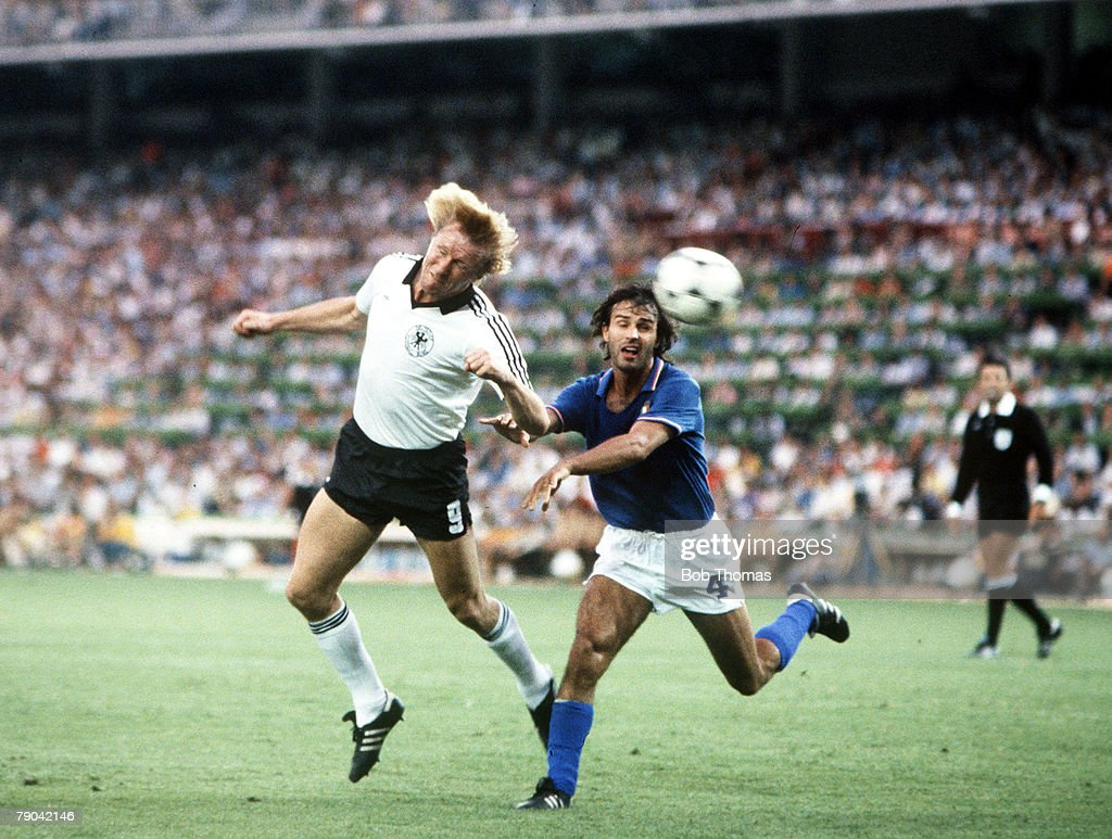 1982 World Cup Final Madrid Spain 11th July 1982 Italy 3 v