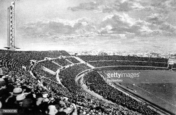 World cup Final Montevideo Uruguay Uruguay v Argentina General scene shows the crowd at the Centenary Stadium in Montevideo watching the first ever...