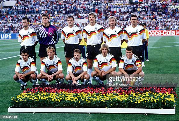 World Cup Final Rome Italy 8th July West Germany 1 v Argentina 0 The West German team pose for a group photo before the match