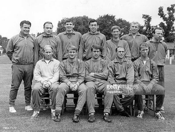 World Cup Final Wembley England 30th July 1966 England 4 v West Germany 2 The England team that won the World Cup Back Row LR Harold Shepherdson...