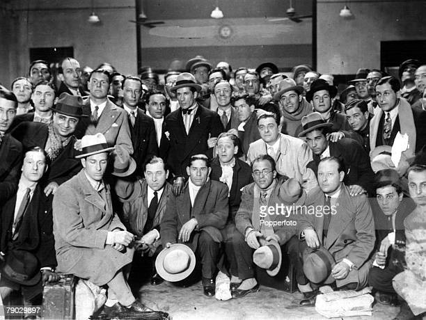 World Cup Finals 1930 Uruguay The Argentina team arrive in Montevideo for the World Cup Finals