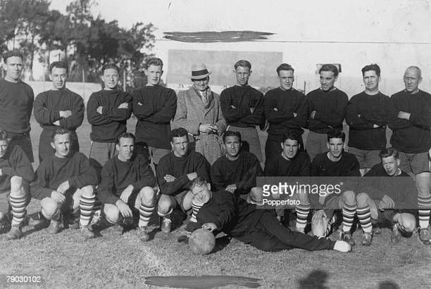 World Cup Finals 1930 Uruguay The United States team pose for a photo at their training game at the World Cup Finals