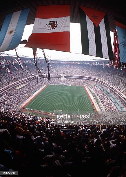 World Cup Finals Azteca Stadium Mexico 31st May Opening Ceremony A general view of the Azteca Stadium stadium showing the vast crowd and some of the...