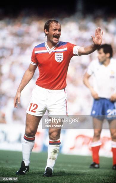 World Cup Finals Bilbao Spain 16th June England 3 v France 1 England's Mick Mills