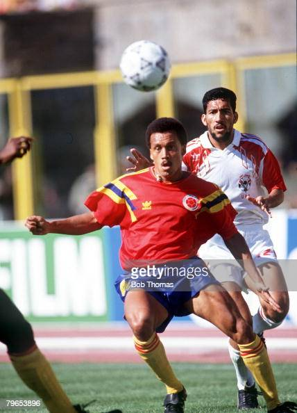 World Cup Finals Bologna Italy 10th June Colombia 2 v United Arab Emirates 0 Colombia's Luis Herrera