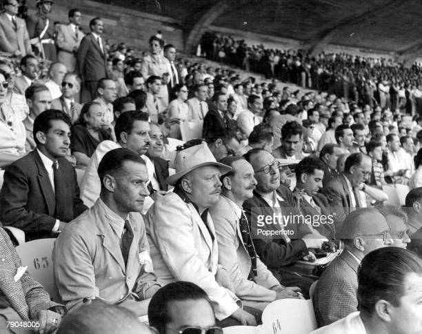 World Cup Finals Brazil Maracana Stadium Rio De Jainero Brazil Brazil 4 v Mexico 0 24th June The World's Press watching the Opening game of the...