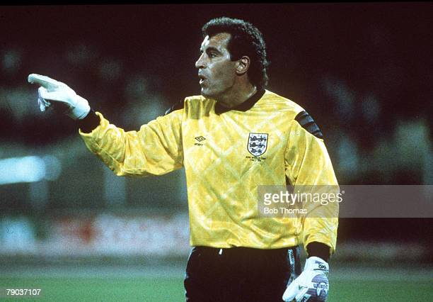 World Cup Finals Cagliari Italy 11th June England 1 v Republic Of Ireland 1 England goalkeeper Peter Shilton