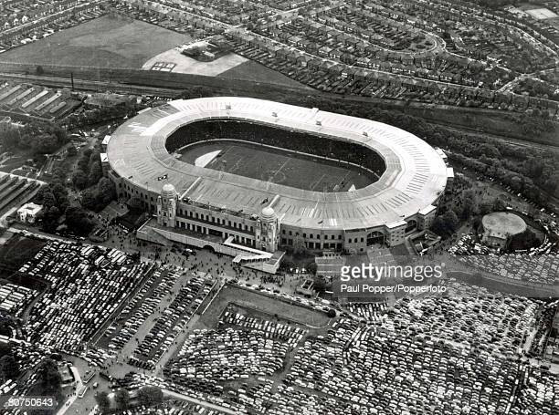 World Cup Finals England London An aerial view of Wembley Stadium venue of the 1966 World Cup Final