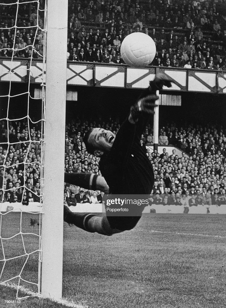 World Cup Finals England Soviet Union goalkeeper Lev Yashin in action during one of his country's World Cup matches