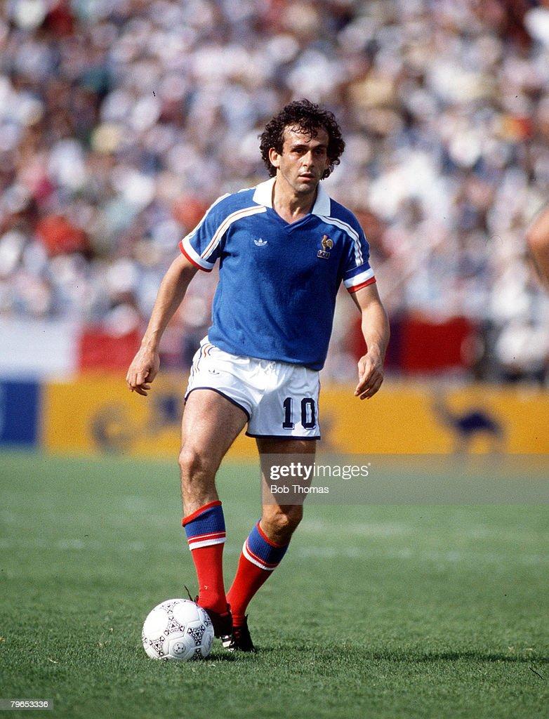 1986 World Cup Finals Leon Mexico 1st June 1986 France 1 v