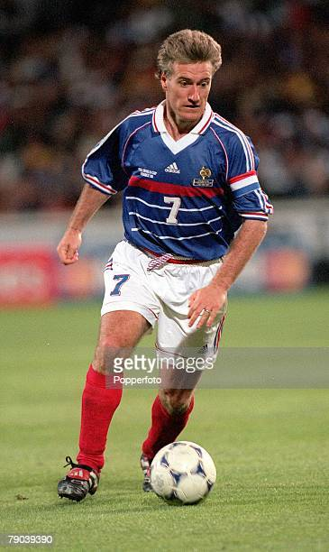 World Cup Finals Marseille France 12th JUNE 1998 France 3 v South Africa 0 France's Didier Deschamps runs with the ball
