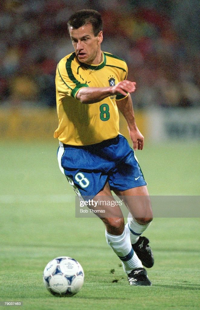 World Cup Finals Marseille France SemiFinal 7th July Brazil 1 v Holland 1 Brazilian captain Dunga