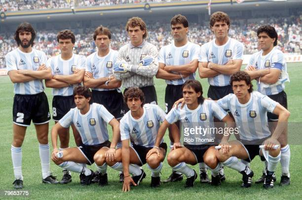 World Cup Finals Mexico City Mexico 2nd June 1986 Argentina 3 v South Korea 1 The Argentine team line up before the match
