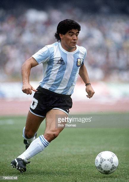 World Cup Finals Mexico City Mexico 2nd June Argentina 3 v South Korea 1 Argentina's Diego Maradona