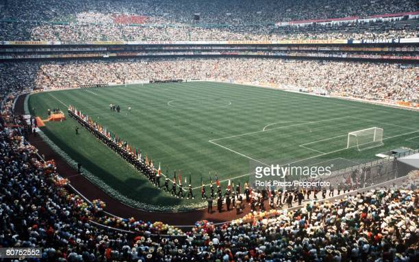 World Cup Finals Mexico City Mexico 31st May Opening Ceremony A general view of the Azteca Stadium during opening ceremonies The opening game between...
