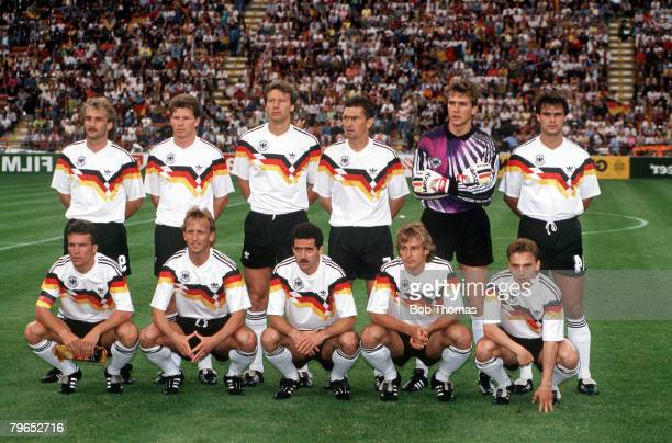 World Cup Finals Milan Italy 15th June West Germany 5 v United Arab Emirates 1 West Germany pose for a team group before the match