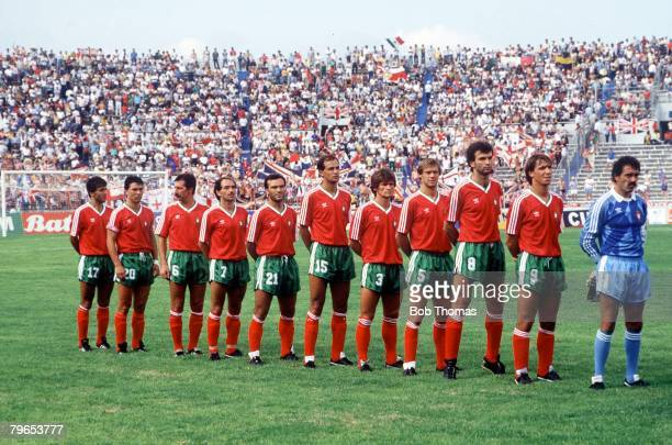 World Cup Finals Monterrey Mexico 3rd June 1986 England 0 v Portugal 1 Portugal team line up before the match