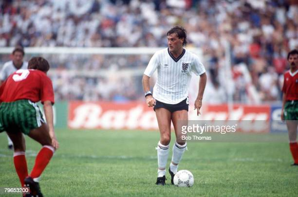 World Cup Finals Monterrey Mexico 3rd June England 0 v Portugal 1 England's Glenn Hoddle on the ball